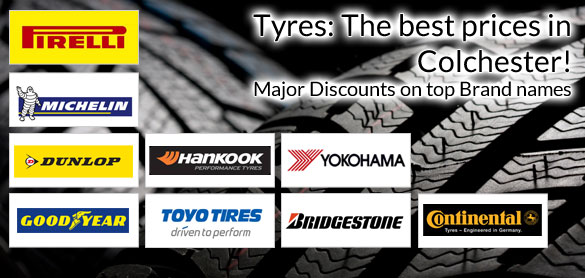 Tyres: The best prices in Colchester!